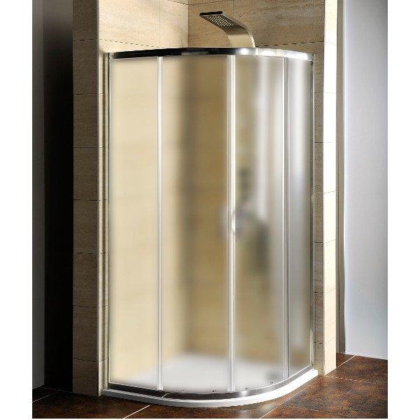 AKCE čtvrtkruhová sprchová zástěna 900x900x1900mm, sklo Brick AG4295