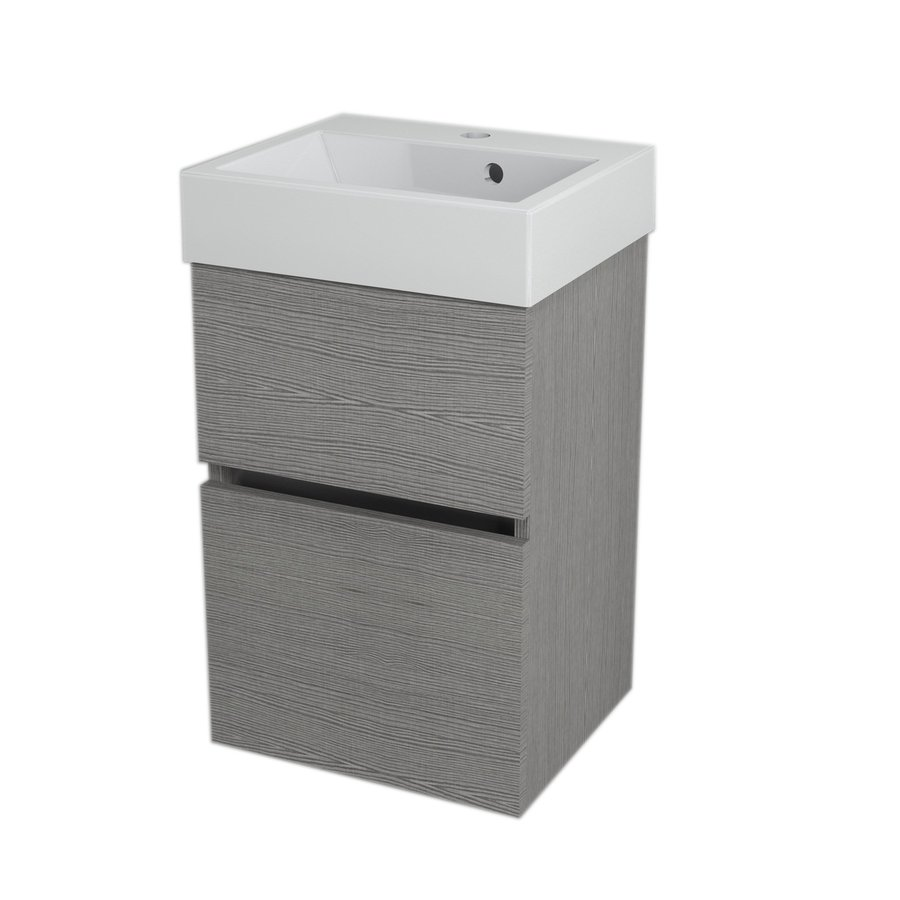LARGO umyvadlová skříňka 41x60x35cm, dub stříbrný LA420