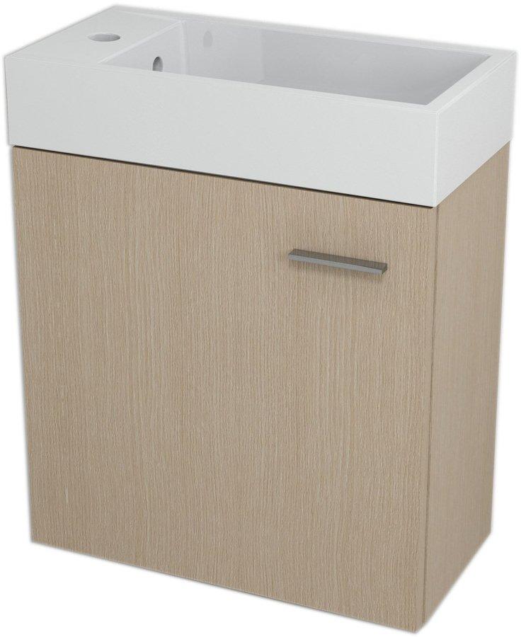 LATUS IV umyvadlová skříňka 49,5x50x25cm, Dub benátský 55597