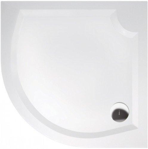 LAURA90 sprchová vanička z litého mramoru, čtvrtkruh 90x90x4cm, R500 GL509