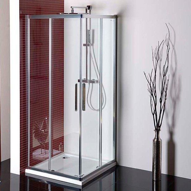 LUCIS LINE čtvercová sprchová zástěna 900x900mm, čiré sklo DL1615