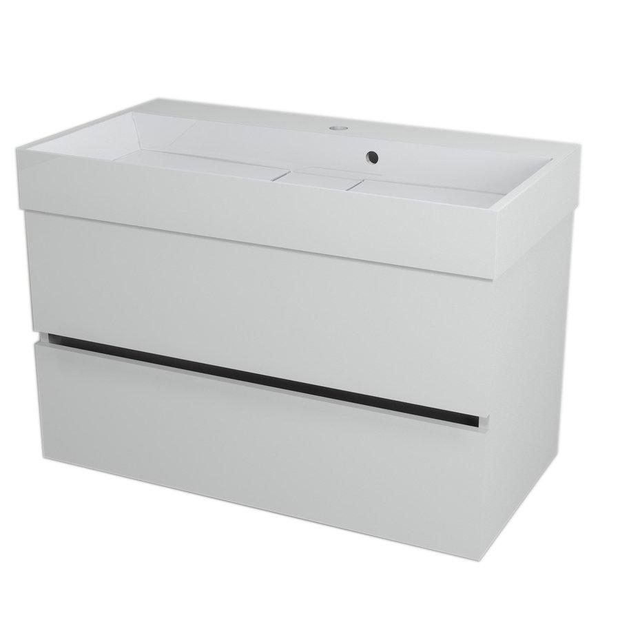 LARGO umyvadlová skříňka 89x50x45cm, bílá LA901