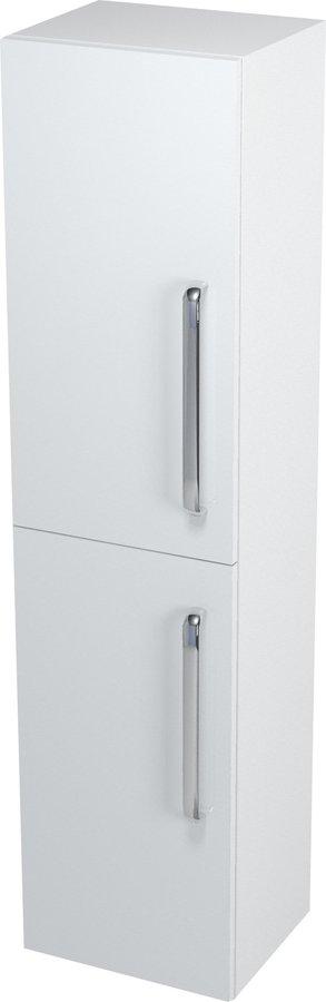 Skříňka vysoká s košem 35x140x30cm, bílá, levá 62030L