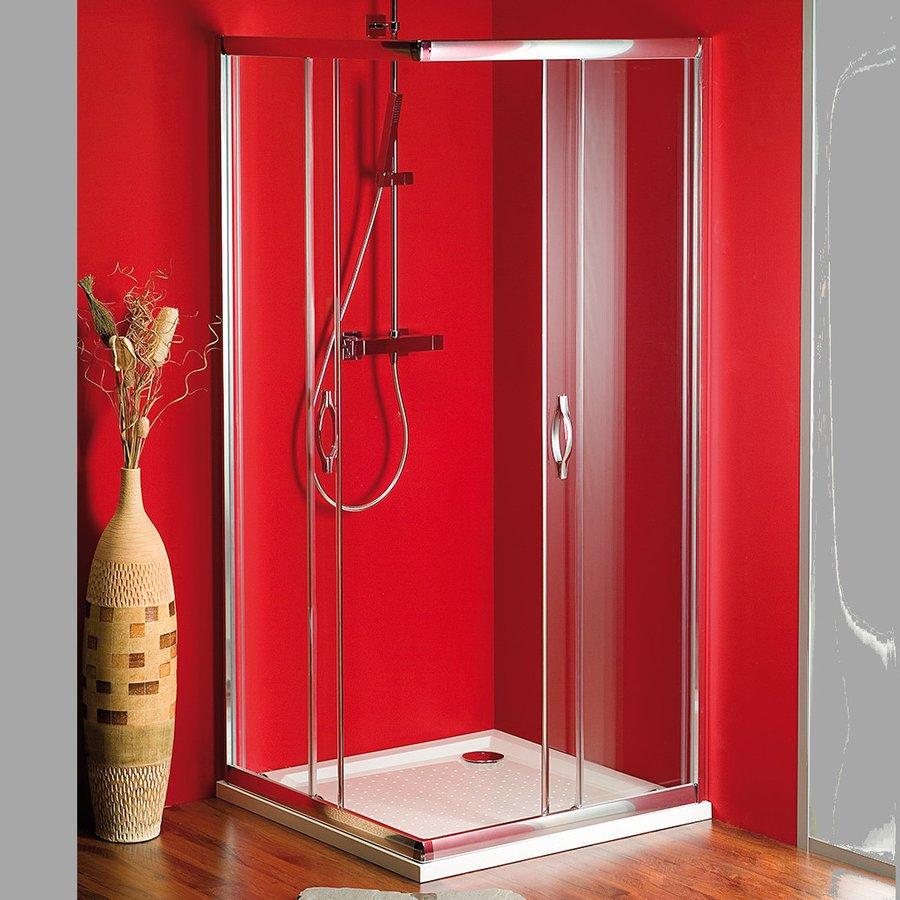 SIGMA čtvercová sprchová zástěna, 800x800mm, sklo Brick SG3618