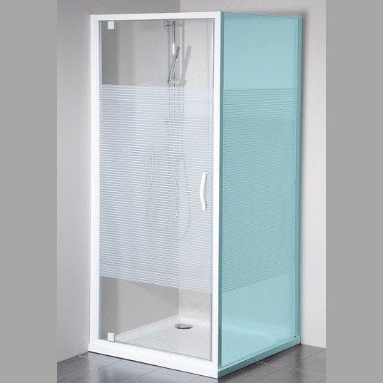 ETERNO sprchové dveře 800mm, sklo STRIP GE6680