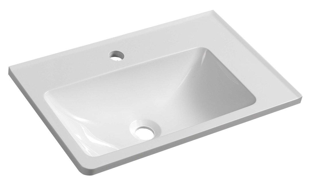 ARANA umyvadlo 56x11x35cm, litý mramor, bílá, pravé AN056