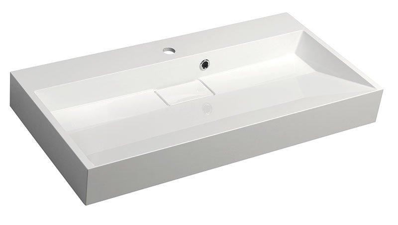 AMUR umyvadlo 90x46 cm, litý mramor, bílá 55032
