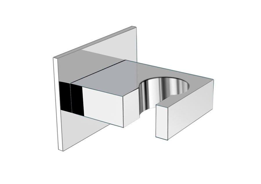 Držák sprchy, hranatý, pevný, chrom AQ586