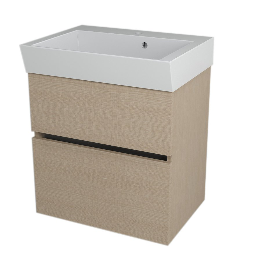 LARGO umyvadlová skříňka 59x60x41cm, dub benátský LA604