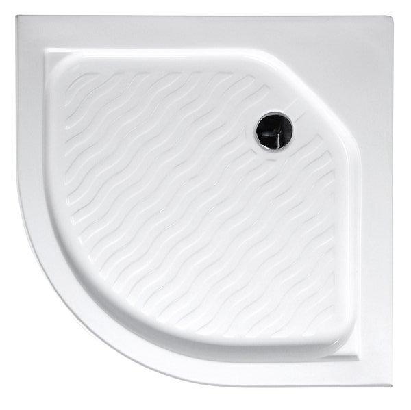 Sprchová vanička akrylátová, čtvrtkruh 80x80x15 cm C80