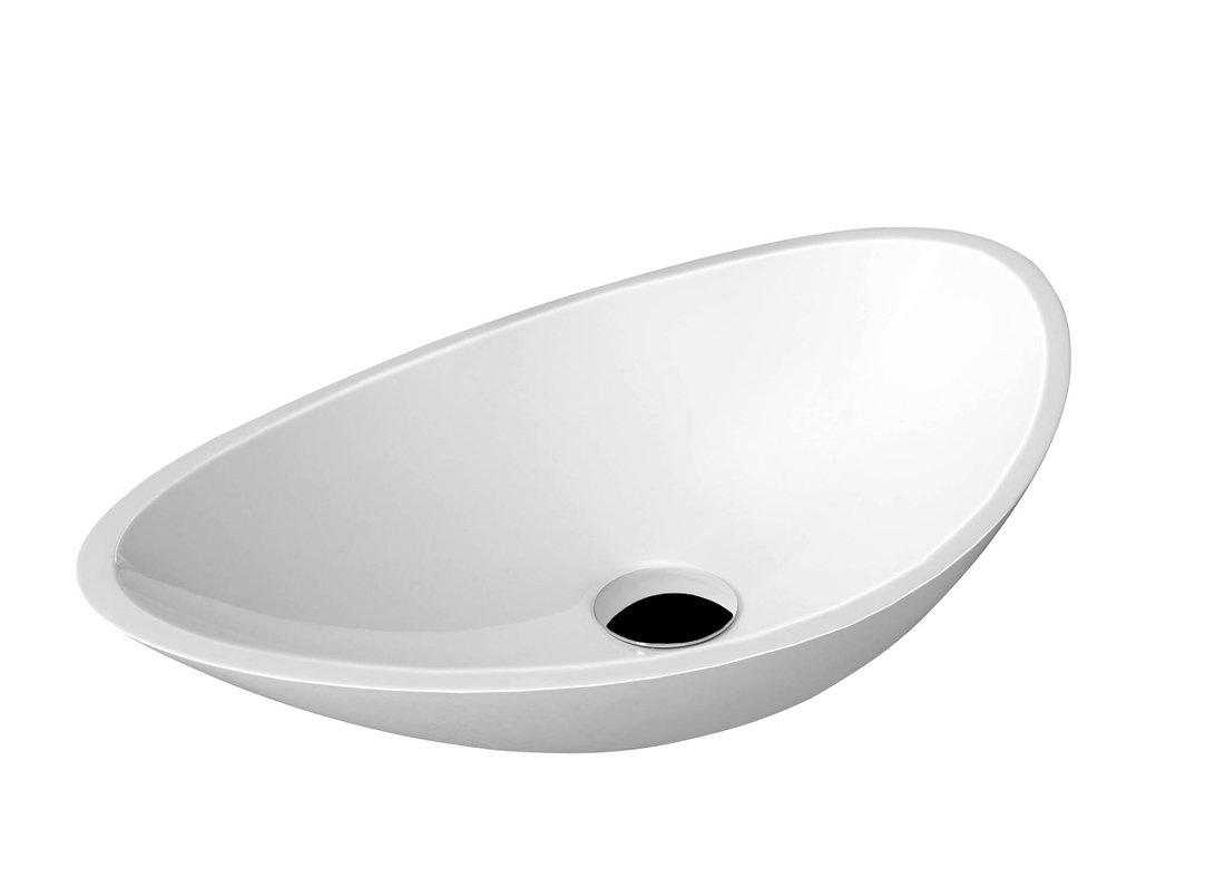 ROSSETA umyvadlo 56,4x32,3cm, litý mramor, bílá RS564