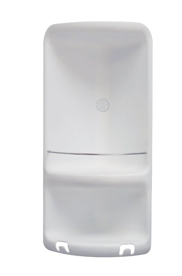CAESAR dvoupatrová rohová polička do sprchy 226x473x160 mm, ABS plast, bílá 7080