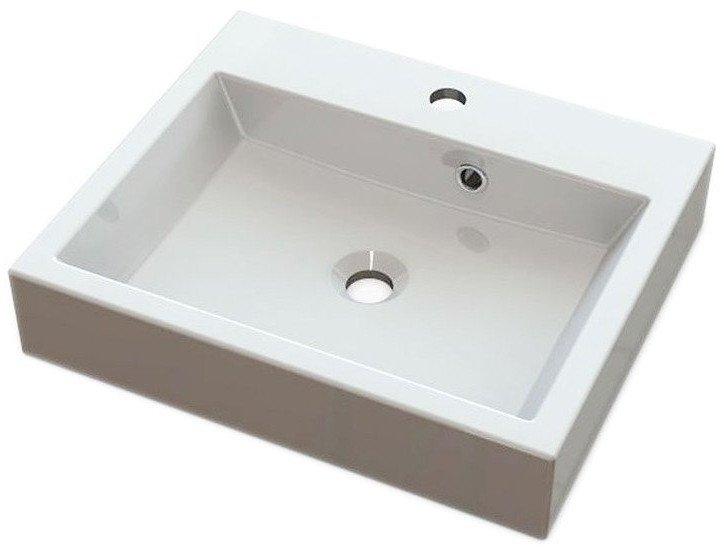 ORINOKO umyvadlo 50x42cm, litý mramor, bílá OR050