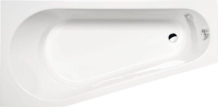 PROJEKTA asymetrická vana s podstavcem 160x80x44cm, levá, bílá 20111