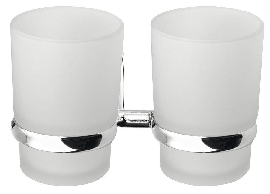 RUMBA dvojitý držák skleniček, mléčné sklo RB105