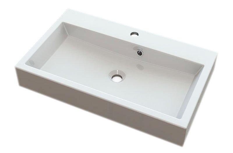 ORINOKO umyvadlo 70x42cm, litý mramor, bílá OR070