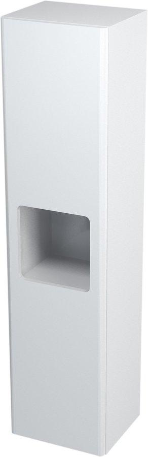 ELLA skříňka vysoká s košem 35x140x30cm, levá, bílá 70120L