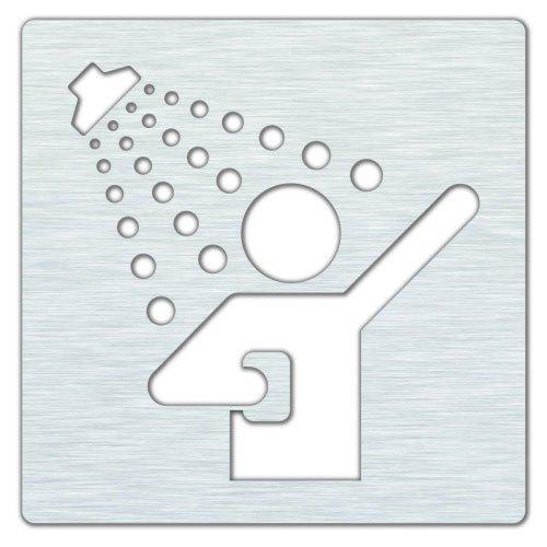 Sprcha 120x120mm, broušená nerez 111022075