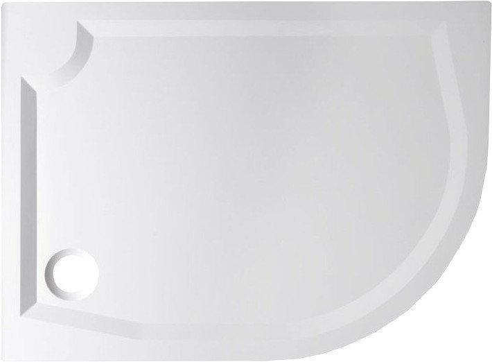 RIVA sprchová vanička z litého mramoru, čtvrtkruh 100x80cm, levá GR10080L