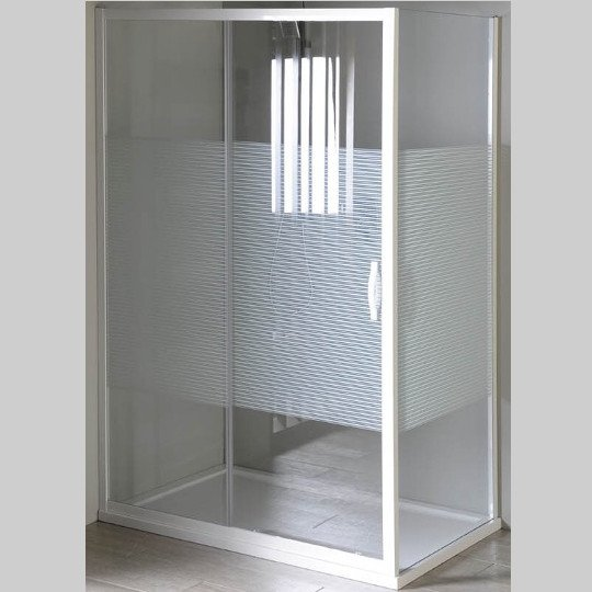 Eterno obdélníkový sprchový kout 1000x800mm L/P varianta, sklo Strip GE6910GE3380
