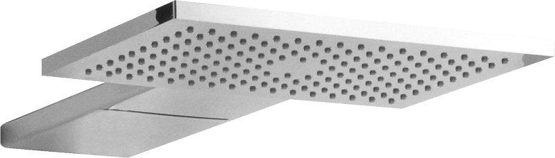 TRIO podomítková hlavová sprcha, 240x260mm, kaskáda, chrom SF080