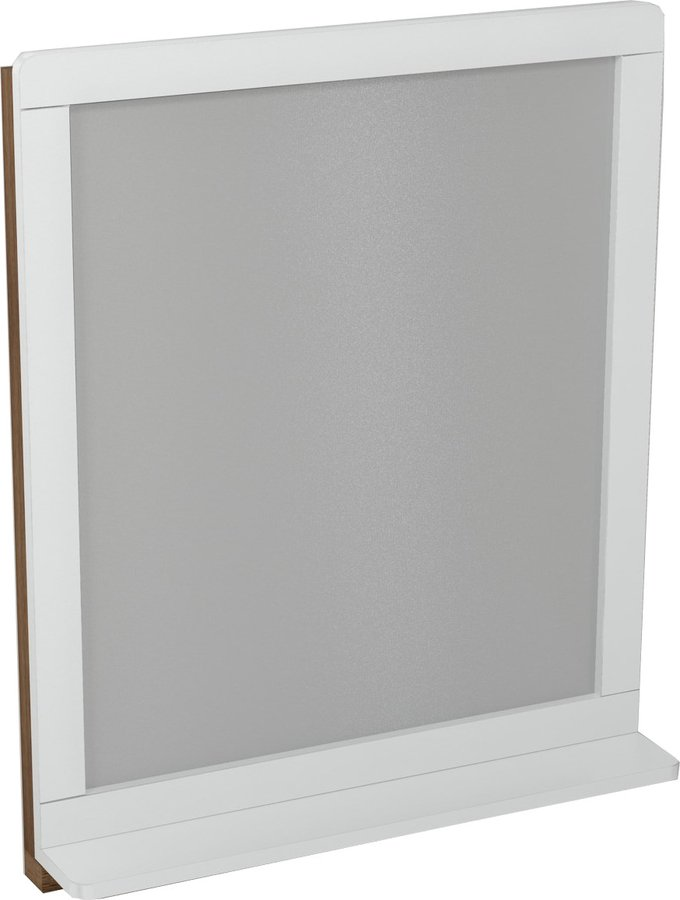 PRIM zrcadlo s policí 70x84x14cm, buk/bílá PM005