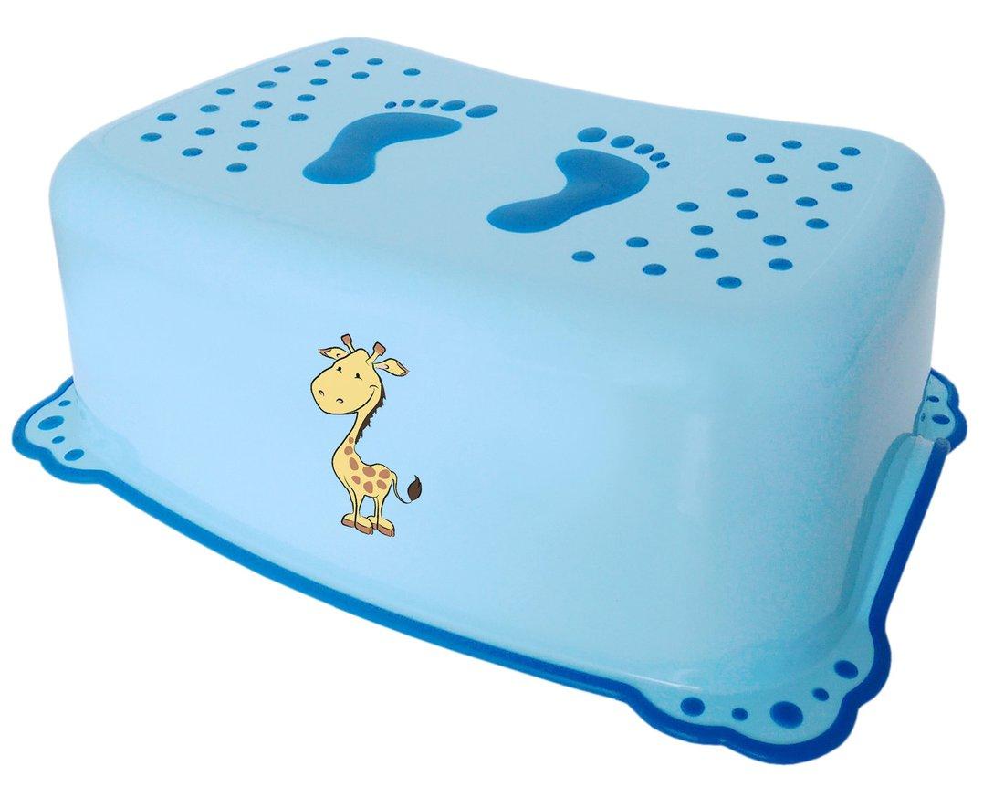 Dětské protiskluzové stupátko do koupelny Žirafa, modrá 2526