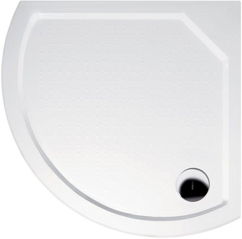 DITA80 sprchová vanička z litého mramoru, čtvrtkruh 80x80x4cm, R590 GD608