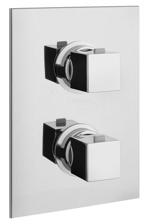 UNA podomítková sprchová termostatická baterie, 2 výstupy, chrom UN57163