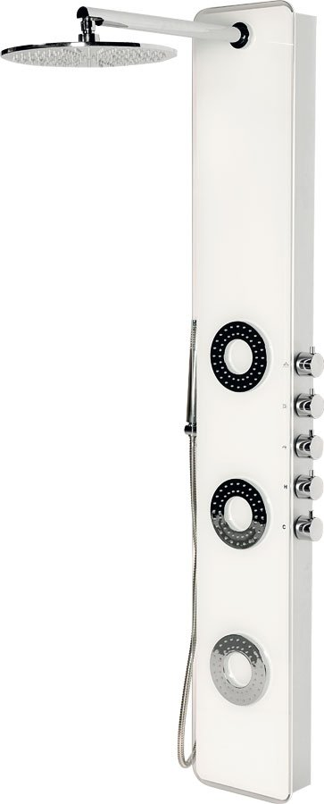 IDESK sprchový panel 1550x250mm, bílé sklo WN765