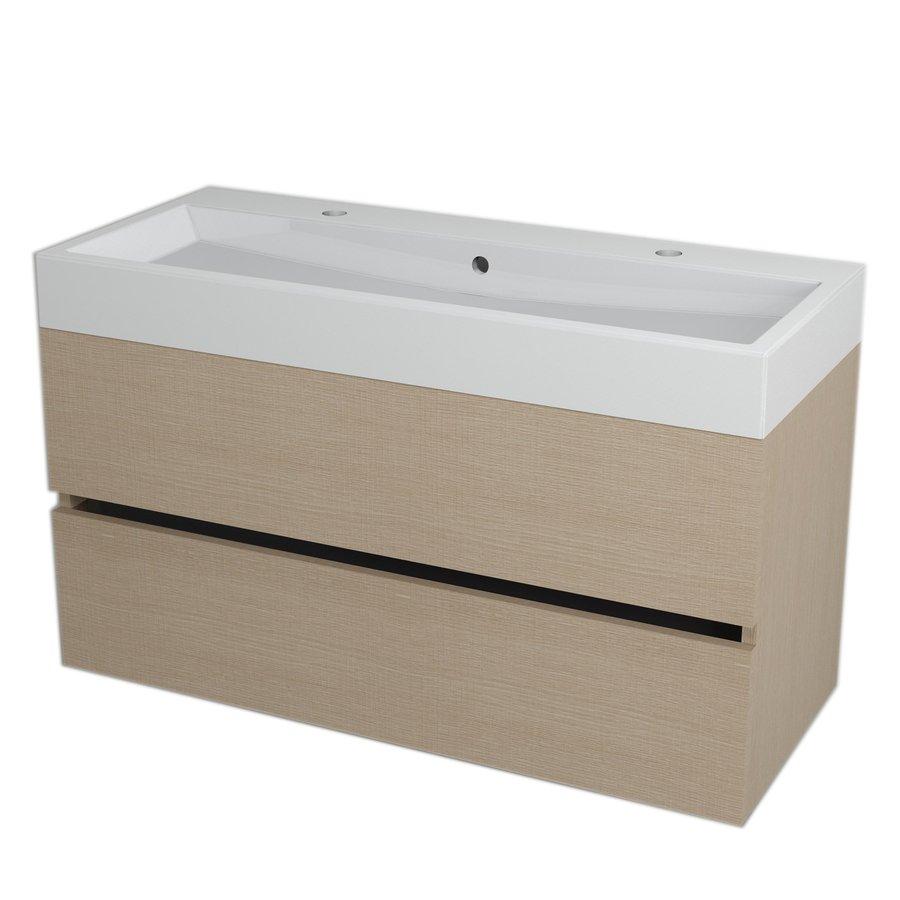LARGO umyvadlová skříňka 99x50x41cm, dub benátský LA104