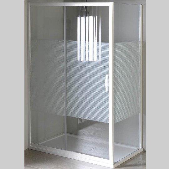 Eterno obdélníkový sprchový kout 900x800mm L/P varianta, sklo Strip GE6690GE3380