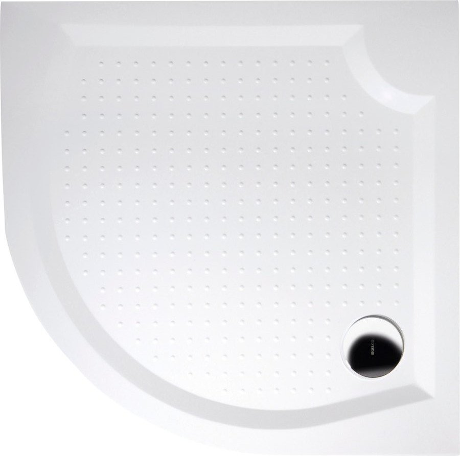 VIVA100 sprchová vanička z litého mramoru, čtvrtkruh 100x100x4cm, R550 GV551