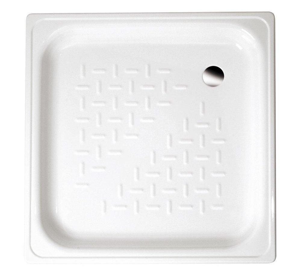 Smaltovaná sprchová vanička, čtverec 80x80x16cm, bílá PD80x80