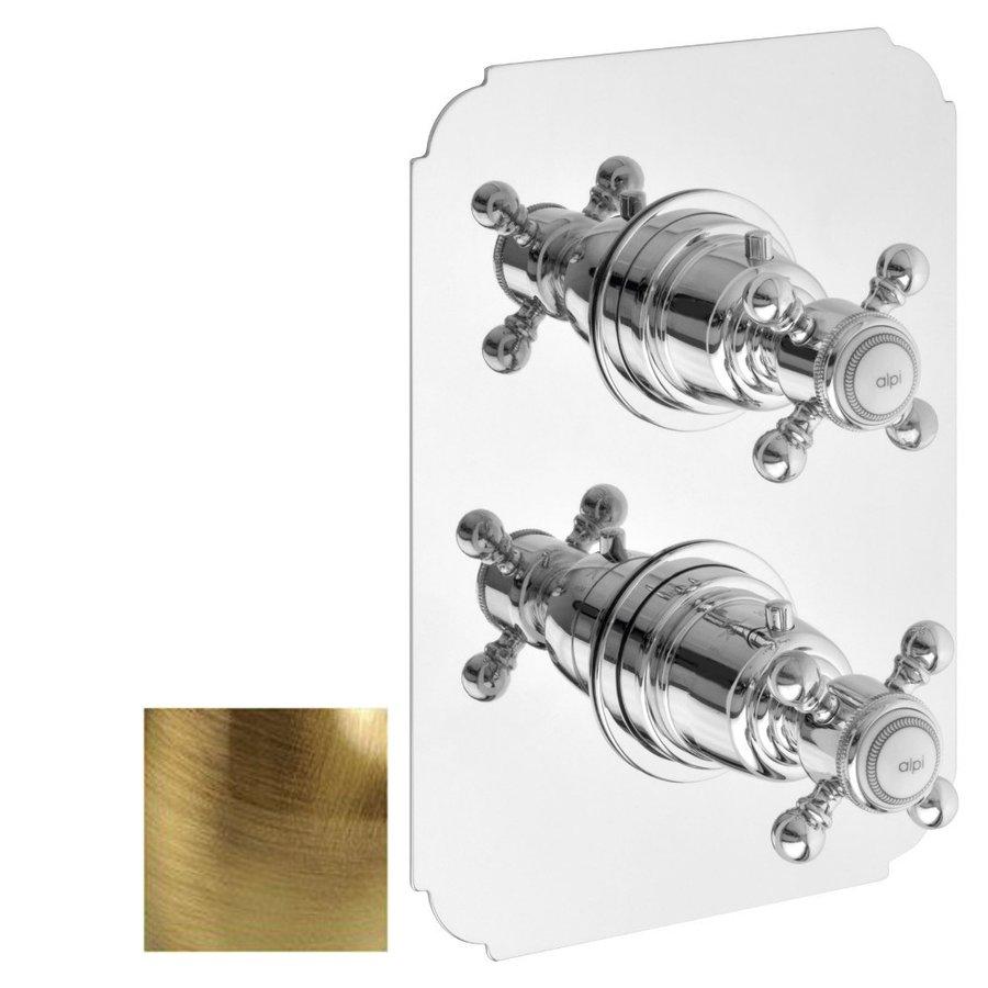 LONDON podomítková sprchová termostatická baterie, 2 výstupy, bronz LO89163BR