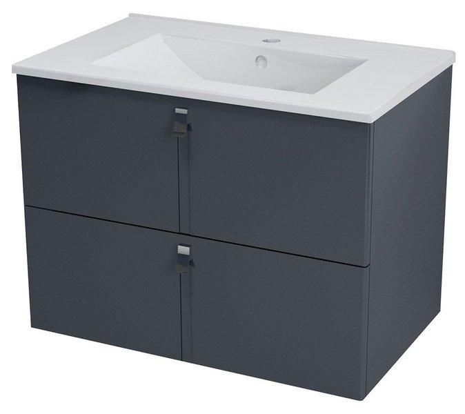MITRA umyvadlová skříňka 74,5x55x45,2 cm, antracit MT072