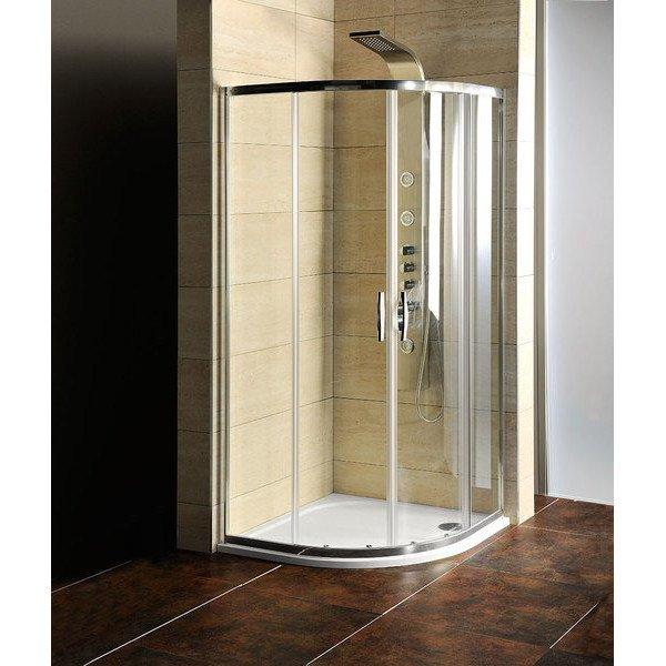 AKCE čtvrtkruhová sprchová zástěna 900x900x1900mm, čiré sklo AG4290