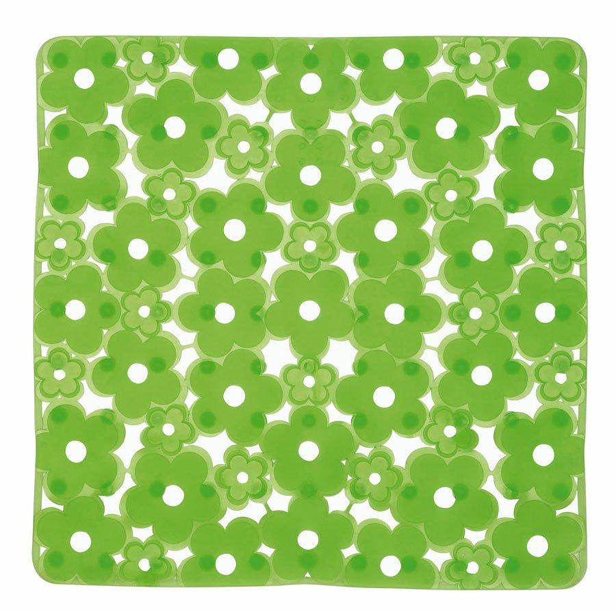 MARGHERITA podložka do sprchového koutu 51,5x51,5cm s protiskluzem, PVC, zelená 975151P8