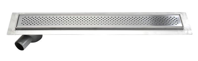 KROKUS nerezový odtokový žlab s roštem, vč. sifonu, 860x140 mm 2705-90