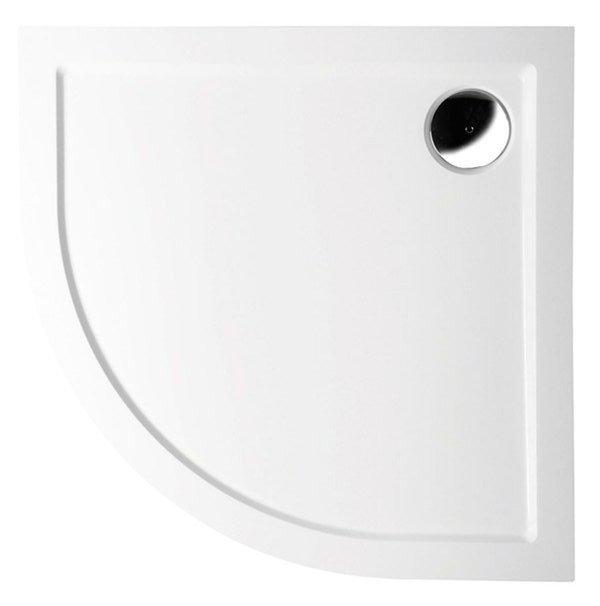 SERA vanička z litého mramoru, čtvrtkruh 90x90x4cm, R550 41511