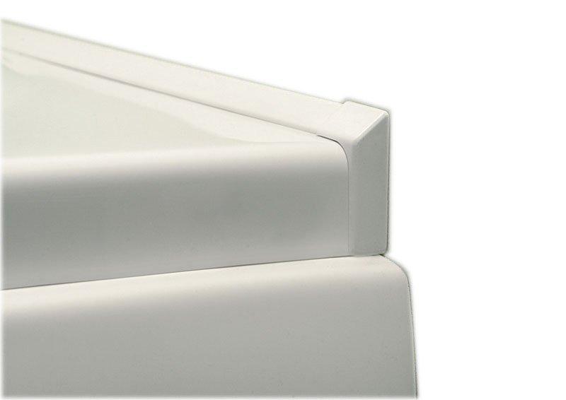Krycí lišta okolo sprchové vaničky 120+100cm, 2x roh, 2x ukončení 91021