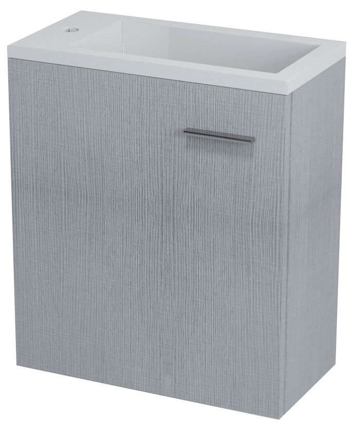 LATUS III umyvadlová skříňka 45x50x23,2cm, dub stříbrný LT310