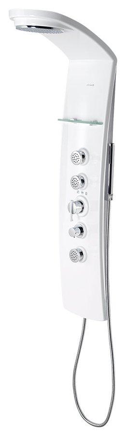 LUK sprchový panel 250x1300mm s termostat. baterií, rohový 80325