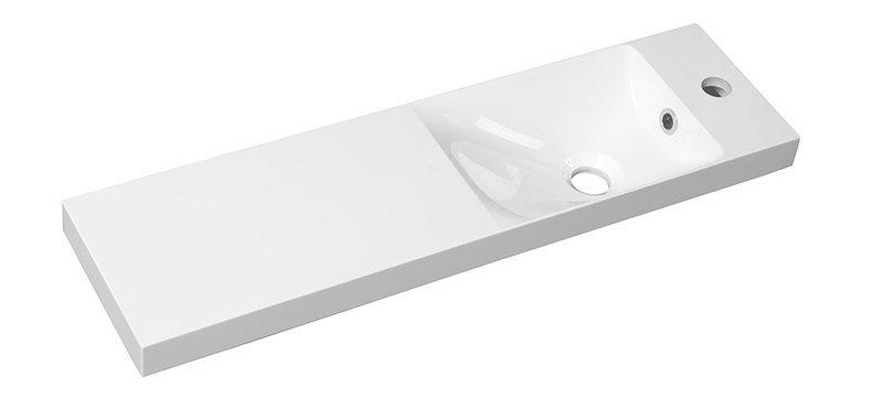 AGOS umyvadlo 80x22cm, litý mramor, bílá, levé/pravé AS080