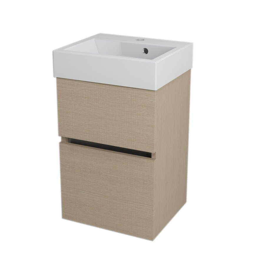 LARGO umyvadlová skříňka 41x60x35cm, dub benátský LA424