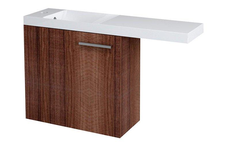 LATUS VI umyvadlová skříňka 50x50x22cm, levá, ořech 55845