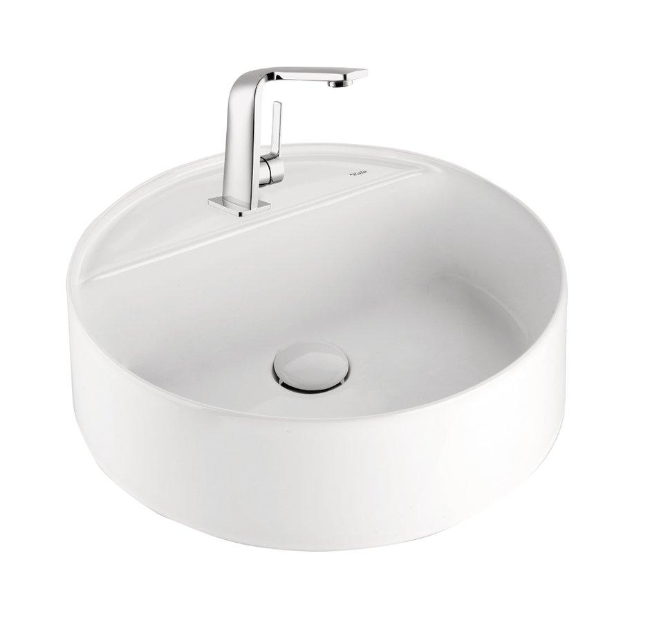 ROUND umyvadlo na desku průměr 45 cm, bílá 71102106