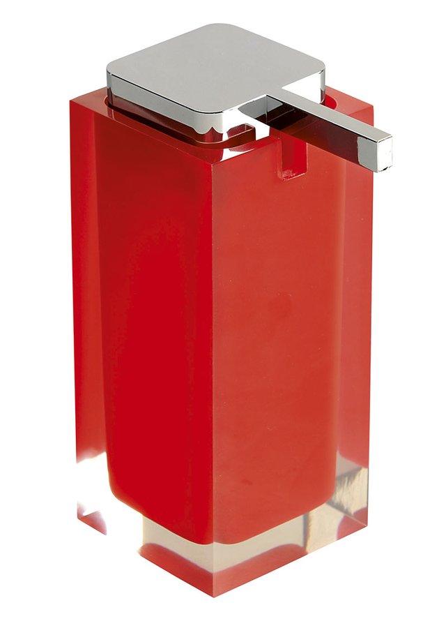 RAINBOW dávkovač mýdla na postavení, červená RA8006