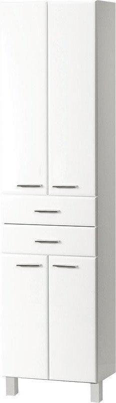 ZOJA/KERAMIA FRESH skříňka vysoká se zásuvkami 50x184x29cm, bílá 51291