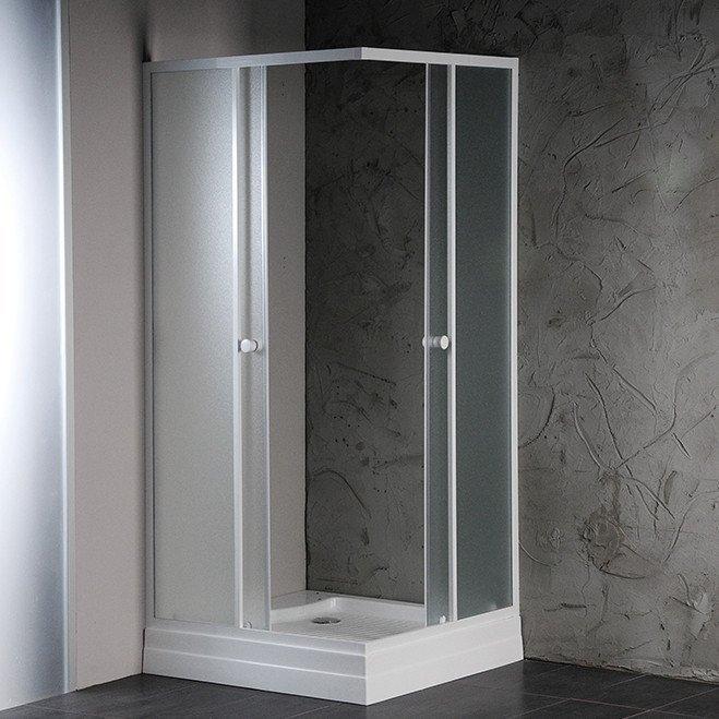ALAIN čtvercová sprchová zástěna 800x800 mm, sklo BRICK YQ800